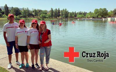 Nos visitan los voluntarios de Cruz Roja Tres Cantos